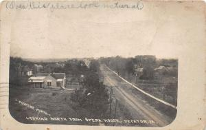 F35/ Decatur Iowa RPPC Postcard 1911 North from opera House Homes