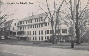 Interlaken Inn, Lakeville, Connecticut, Early Postcard, Used