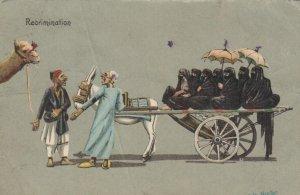 Arab women sitting on a cart, 1911; Recrimination, AS; E.B. Norton