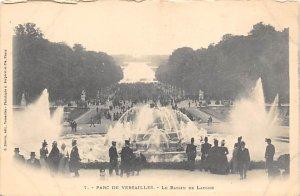 Fountain   Parc de Versailles, Le Bassin de Latone et le Tapis Vert Postcard ...