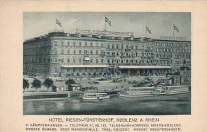 Hotel Risen-Furstenhof, Koblenz a. Rhein (Rhineland-Palatinate), Germany, 191...
