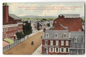 York PA Tyler Building Centre Square Vintage 1912 Postcard