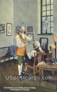Barber, Peruke Marker's Shop