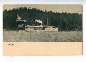233113 FINLAND RUSSIA Karelia Louhi steamship Vintage postcard