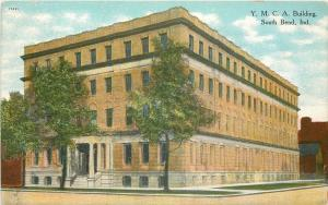 South Bend Indiana~Y M C A Building~1910 Postcard