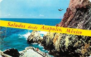 Acapulco Mexico~Banner Greetings~High Rock Diver~Observation Point~1987 PC