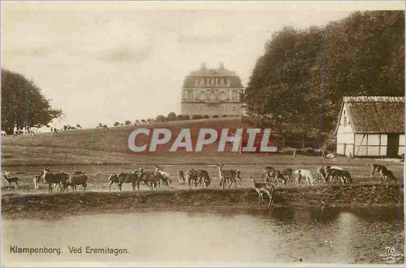 Old Postcard Klampenborg Ved Eremitagen