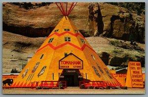 Postcard Lupton AZ 1980s Tomahawk Indian Store I40 TeePee Route 66 Apache County