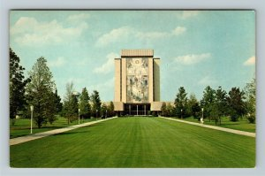 South Bend IN- Indiana, New Library, University of Notre Dame, Chrome Postcard