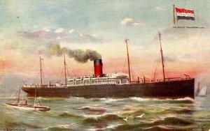 Atlantic Transport Line - SS Minnehaha (Tuck 9126, Celebrated Liners)
