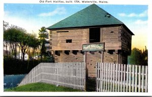 Maine Waterville Old Fort Halifax Built 1754