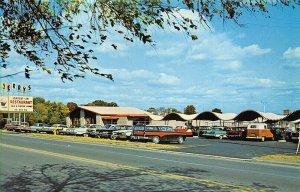 Cincinnati OH Jerry's Drive-In Restaurant Old Cars Postcard