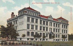 Main Educational Building, Zion City, Illinois ca 1910s Vintage Postcard