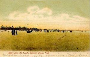 NH - Hampton Beach. Casino from the Beach circa 1900