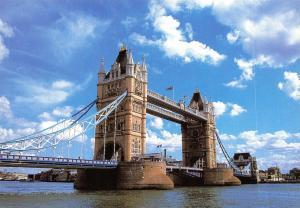 London Postcard, Tower Bridge, England, UK, Travel, Landscape, River Thames #931