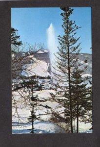 VTVT Mt Mount Snow Ski Skiing Snow Lake Lodge Vermont Postcard Resort