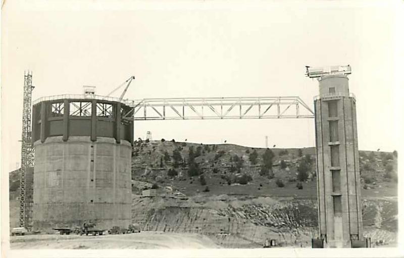 RPPC of Spillway Towers Kingsley Dam During Construction Nebraska