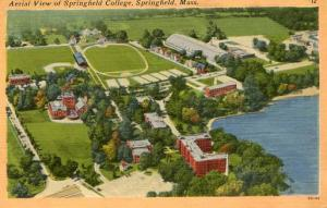 MA - Springfield. Aerial View of Springfield College