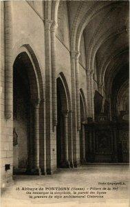 CPA Pontigny - Abbaye de Pontigny - Piliers de la Nef FRANCE (960778)