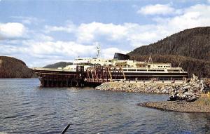 Southeastern Alaska Marine Highway~Ferry Boat MV Malaspina at Landing~1960s