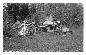 R803. Alaska Indian Graveyard Alaska Robinson Publisher Real Photo Postcard