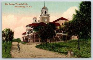 Parkersburg West Virginia~Terrapin Park Casino Side View~Gambler on Gravel~c1910