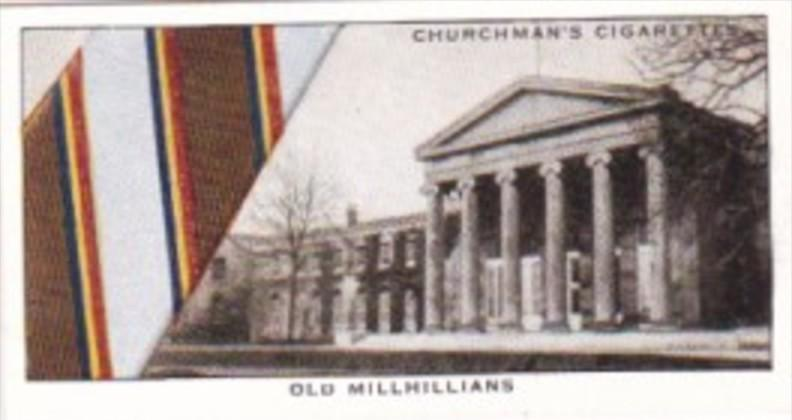 Church Vintage Cigarette Card Well Known Ties No 30 Old Millhillians