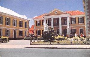 Queen Victoria Statue and Public Building Nassau, Bahamas Virgin Islands Unused