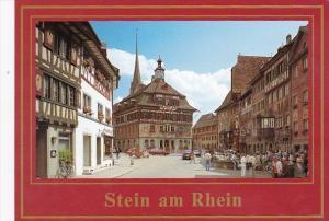 Switzerland Stein am Rhein Rathausplatz