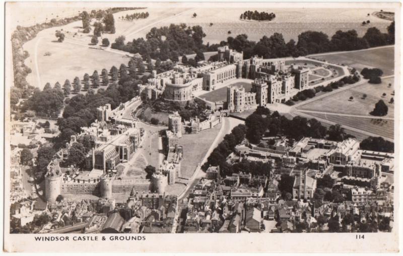 WINDSOR CASTLE & GROUNDS, unused Real Photograph Postcard