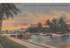Florida Fort Lauderdale New River At andrews Avenue Bridge 1952