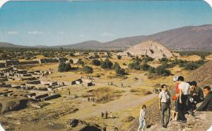 Partial view of Teotihuacan,  Mexico,   40-60s