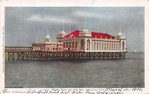 Music Hall On the Sea, Atlantic City, New Jersey, Early Postcard, Used in 1906