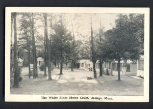 Orange, Mass/MA Postcard, The White Pines Motor Court