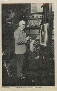 Paintor Briton Rivière RA Royal Academy British artist postcard