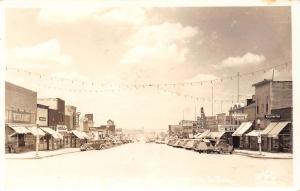 Winner SD~Main Street~Ritz Theater~Peacock Cafe~Market~1920-30s Cars~RPPC