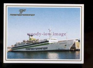 FE2327 - Trasmediterranea Ferry - Ciudad de Salamanca , built 1982 - postcard