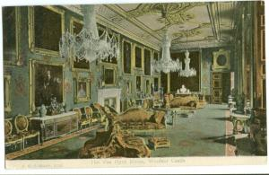 The Van Dyck Room Windsor Castle early 1900s unused Postcard