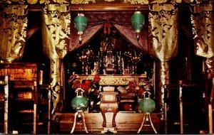 Hawaii Kona Kealakekua Daifukuji Soto Mission Decorated Altar Of The Main Temple