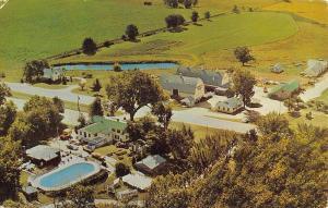 Mauston Wisconsin Woodside Ranch Resort Birdseye View Vintage Postcard K82419