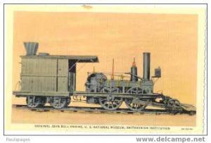View of John Bull Engine at Smithsonian Museum, Washington DC, Linen