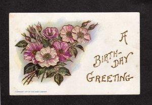 Birthday Greeting Greetings Postcard Flowers 1907 The Rose Company Postcard TRC