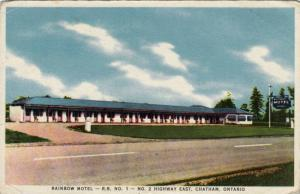 Rainbow Motel- R. R. No. 1, No. 2 Highway East, Chatham, Ontario, Canada, 30-40s