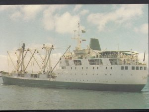 Shipping Postcard - R.M.S. St Helena Leaving Cape Town, South Africa  A8329