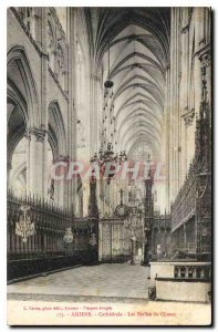 Old Postcard Amiens the Stalls Choir