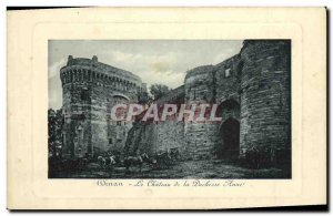Old Postcard The castle Dinan Duchess Anne