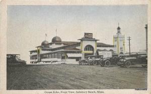 1930s Ocean Echo Front View SALISBURY Massachusetts Postcard 2399 Automobiles
