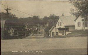 Phillips ME Bridge & Millinery c1910 Real Photo Postcard