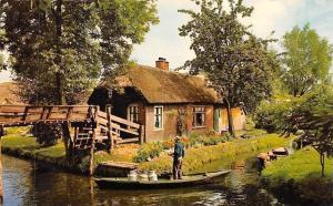 Netherlands Groeten uit Mooi Giethoorn Bondscafe Restaurant Hollands Venetie
