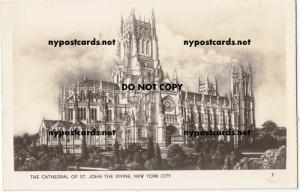 RPPC, Cathedral of St John, NYC